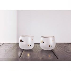【 冷茶グラス - 幾何学 - 】ティーグラス 昭和 レトロ 日本製