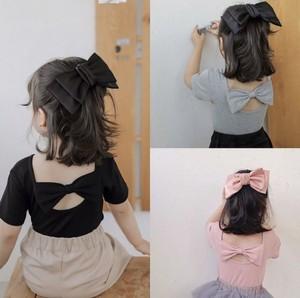 バックリボンTシャツ 韓国服 子供服