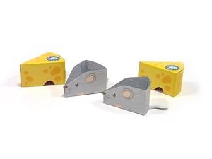 ペーパークラフト チーズとネズミ 8個入りセット