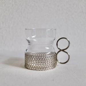 Iittala イッタラ / Tsaikka ツァイッカ ホルダー付グラス シルバー