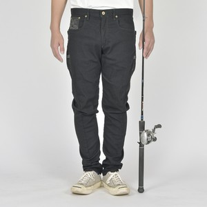 """The Black Run&Gun""  FISHING 3D BLACK DENIM  BW-103VMBB"