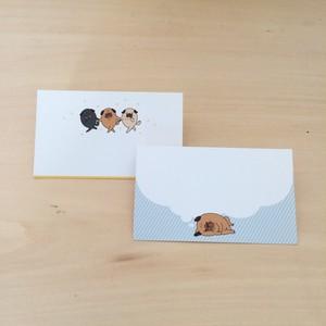 メッセージカード*パグオスタンプ