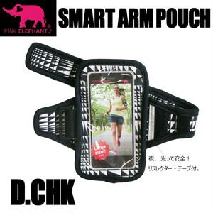 PINK ELEPHANT スマート・アームポーチ Lサイズ デジタルチェック スマホケース