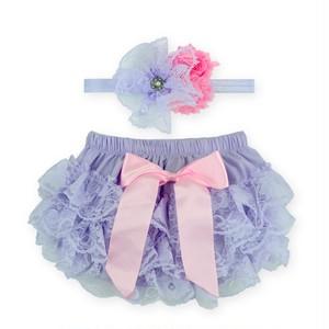 送料無料 ベビーフリルパンツ #03 パープル 紫 ピンク