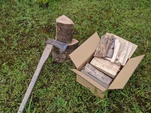【お試しに最適】椎茸屋の薪 広葉樹ミックスセット 6kg前後 薪ストーブ ソロキャンプ 薪