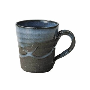 信楽焼 へちもん マグカップ 約310ml 紺碧 MR-3-3349