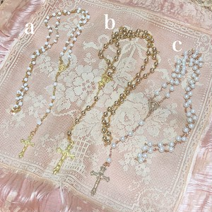 【a】gold♡Rosary necklace