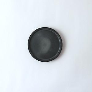 3RD CERAMICS(サードセラミックス) 黒泥皿 3寸 φ9×H1cm 岐阜 多治見市 陶器 ブラック スタイリッシュ テーブルウェア