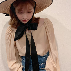 puff sleeve button blouse (S19-01049K)