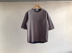 "FLISTFIA""1/2 Sleeve Double Face T Gray×Old Blue"""