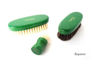 ザパトロ|Zapatro Bueno|ポリッシュブラシセット|ホースヘア×ピッグヘア×クリーム付けブラシ3本|グリーン