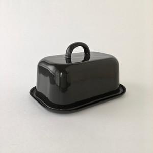 黒い琺瑯のバターディッシュ|Black Enamel Butter Dish