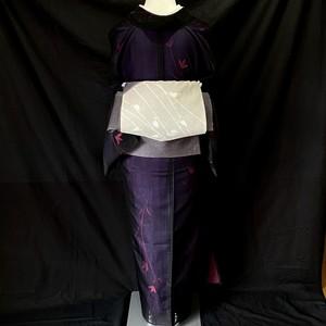 〈淡い青紫色の紗の帯〉夏帯 洒落袋 織り出し トール 送料無料