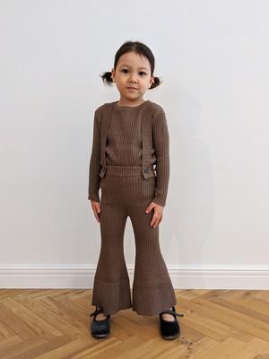 Kids Knit Bell Bottoms - Brown