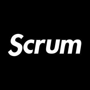 Scrum Sticker Black (送料無料)