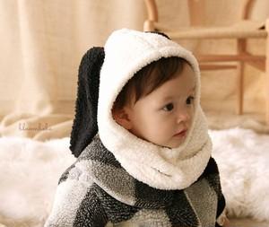 【即納】ふわもこ たれ耳 スヌーピー  ネックフードウォーマー  ベビー キッズ baby kids 韓国子供服帽子 韓国子供服ネックウォーマー 韓国子供服 子供服フードウォーマー (ZA0014)
