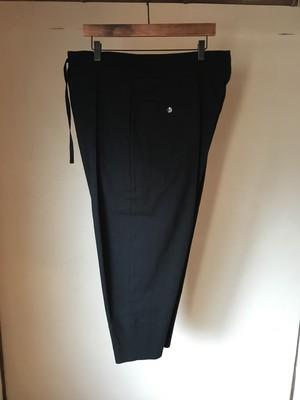 Amunzen Cotton Himo Pants / BLACK