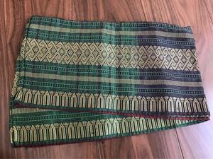 ラオス 巻きスカート 裾飾り布