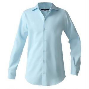 DJS-787 decollouomo メンズドレスシャツ 長袖 overture - ライトブルー