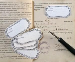 ほんのひとことをしたためて・・ Petit Journal ステッカー