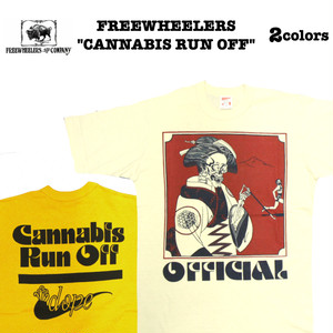"""CANNABIS RUN OFF"" FREEWHEELERS/フリーホイーラーズ POWER WEAR Lot 1925014 / 2colors Tシャツ / 半袖 / カットソー"