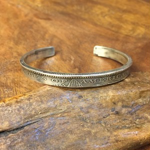 MORGAN DOLLAR BANGLE SLIM   n-056