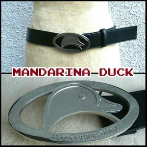 マンダリナダックMANDARINA DUCK/バックル/ベルト/黒/