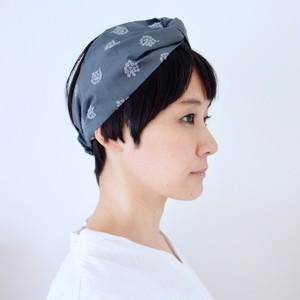 アナベル刺繍のヘアバンド [チャコールグレー]