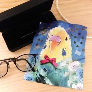 インコ メガネ拭き ブルー【受注生産】