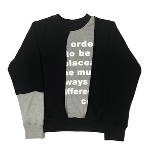 Co2 print sweat shirt Black