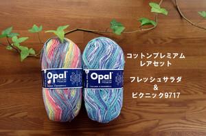 在庫有 コットンプレミアム フレッシュサラダ×ピクニックセット【オパール毛糸】