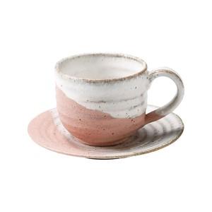 信楽焼 へちもん コーヒーカップ&ソーサー 約180ml 桜窯変 MR-3-3275