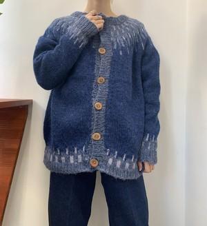 nordic knit cardigan handknit 【M位】