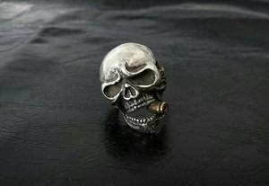 bullet skull ring