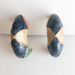 color enamel hoop earring[e-1244] ヴィンテージイヤリング