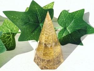 ★シトリンフェア★~図形の内なるエネルギー~ Octagonal pyramid Communication deviceオルゴナイト(八角錘 Mサイズ)