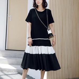 【dress】配色ロング超人気カジュアルワンピース26949750