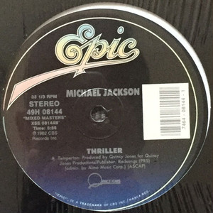 Michael Jackson - Thriller / Off The Wall (12inch) スリラー [rock] 試聴 fps7908-13