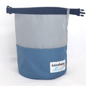 kazahanaグランドチョークバッグ  ライトグレー/ライトブルー/ブルー