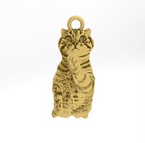 ティノ HOKUSHIN トップのみ シルバー925 14Kゴールド 猫