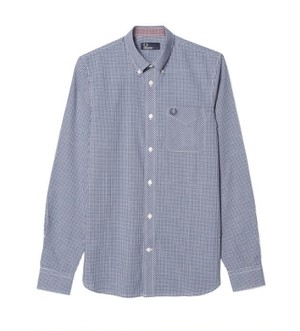 40%OFF Kids Fred Perry Classic Gingham Shirt ( ネイビー ) キッズ フレッドペリー ギンガムチェック シャツ
