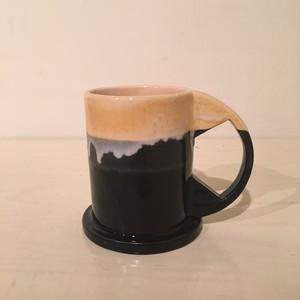 Echo Park Pottery / Large Mug / Yellow × Black