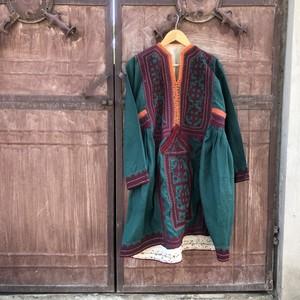 Vintage パキスタン バロチスタンドレス Green