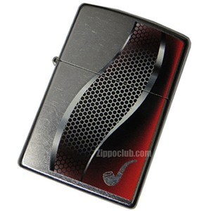 パイプ・ライター・レッド - Zippo Pipe Lighter Red Street Chrome