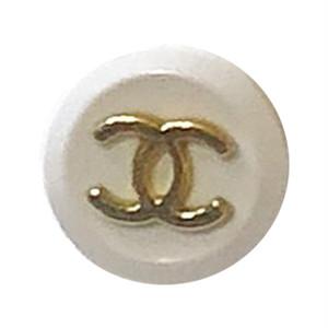 【VINTAGE CHANEL BUTTON】ゴールドココマーク ホワイトボタン
