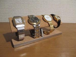 クリスマスプレゼント 4本掛けコルク腕時計スタンド コルク仕様 1918