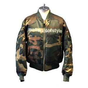 ALMOST BLACK Green Camo Reversible Blouson