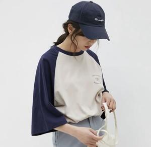 カジュアルコーデに♡ ラグラン Tシャツ ゆるカワ カジュアル シンプル