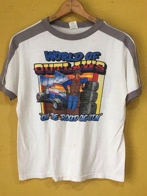 アメリカ製 ビンテージ world of outlaws 1985 Tシャツ アメ車 スプリントカー レース
