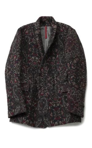 YANTOR Persian Jacquard Weave Jacket (BLACK x RED / size:M) [Y194JK01]